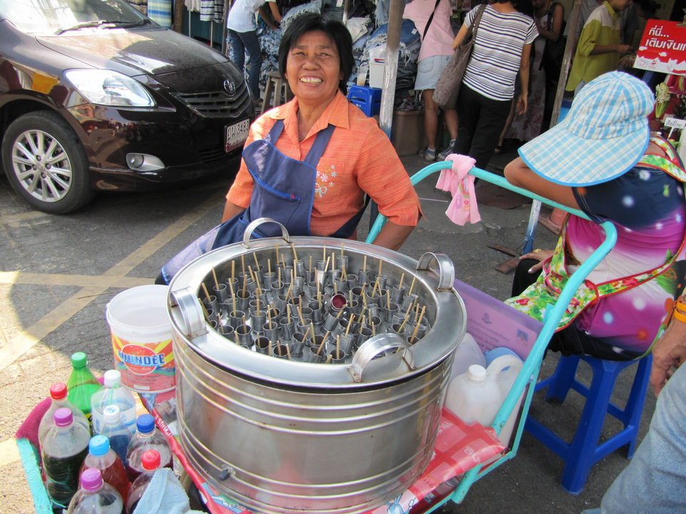 Photo -  Ice cream pops are just one of the thousands of items for sale at the vast Chatuchak market in Bangkok, Thailand. Photo courtesy of Barbara Selwitz.