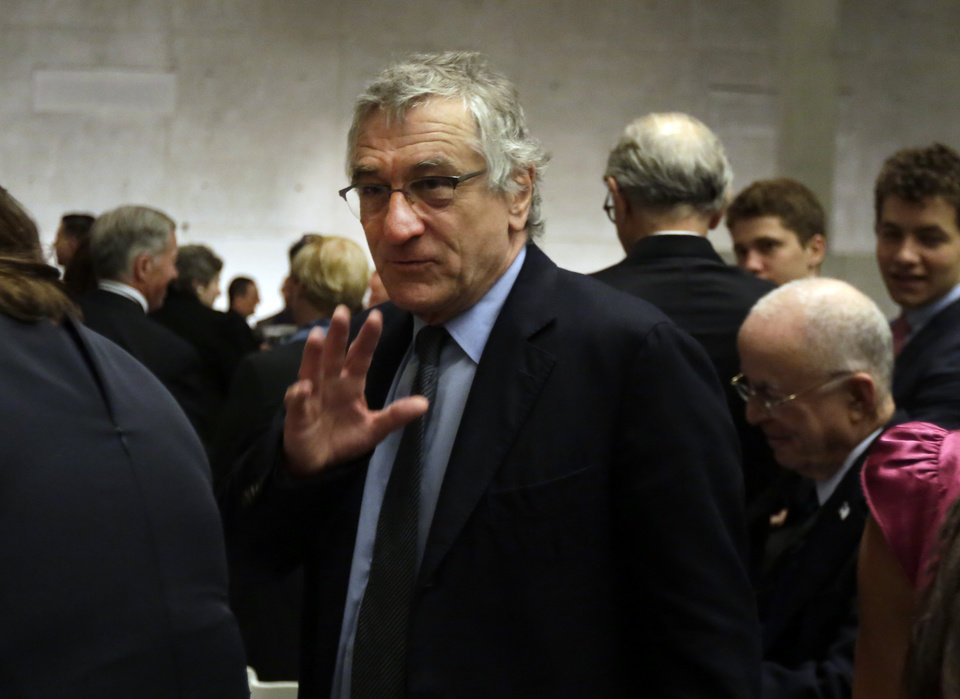 Photo - Actor Robert Robert De Niro attends the the dedication ceremony in Foundation Hall, of the National September 11 Memorial Museum, in New York, Thursday, May 15, 2014. (AP Photo/Richard Drew, Pool)
