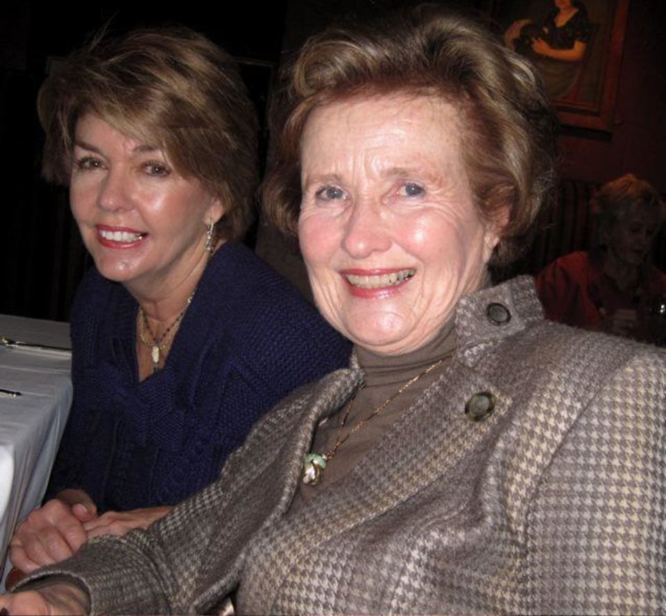 HAPPY BIRTHDAY GRENDA....Sally Royse and Barbara Thompson enjoy the event. ( Photo by Helen Ford Wallace)