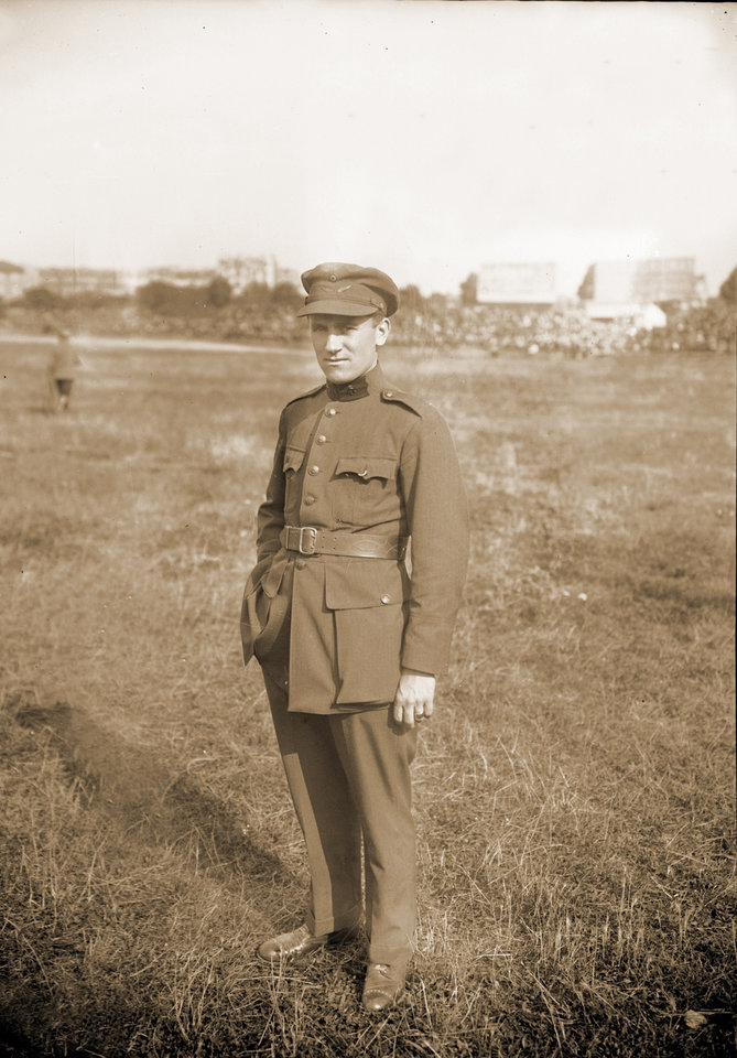 Photo - In this undated photo provided by the WielerMuseum Roeselare, Belgian cyclist and 1914 Tour de France winner Philippe Thys poses in his military uniform. On June 28, 1914, 145 riders lined up to start the 12th running of the Tour de France, including a record seven previous Tour champions. The same day, a continent away, a political assassination took place that would have consequences unimaginable to the riders as they pedaled across Normandy to Le Havre. (AP Photo/Wielermuseum)