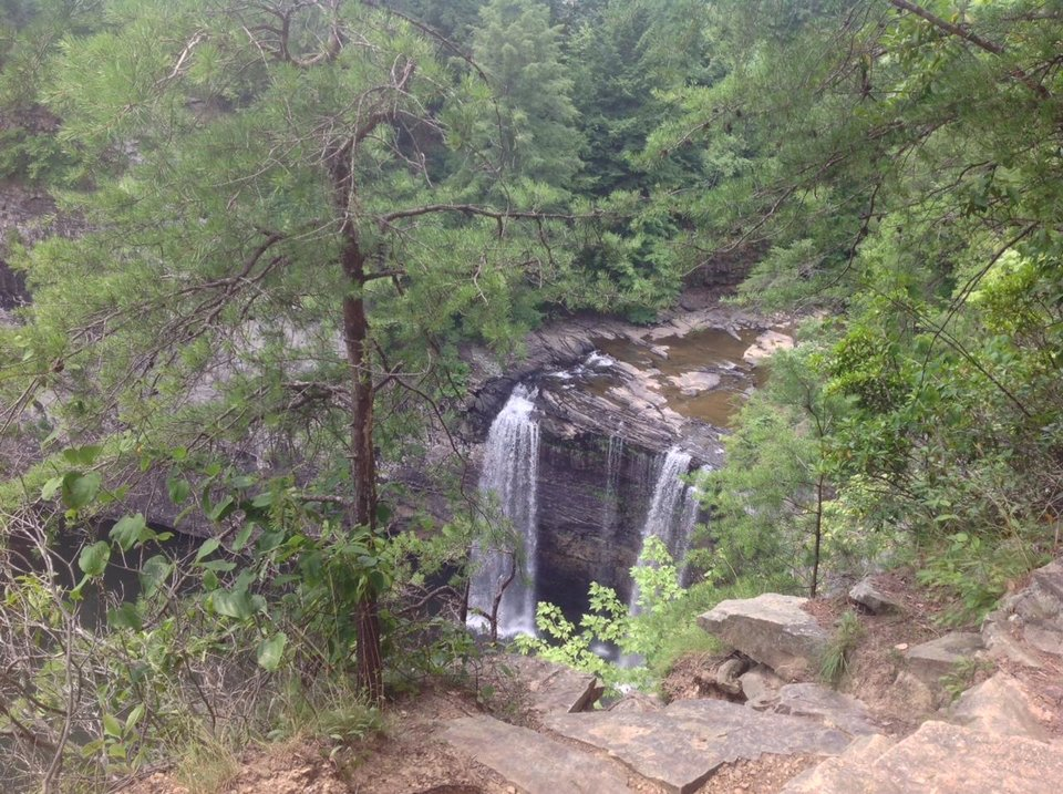 Photo - Hikers enjoy the majesty of the waterfalls. Photo by Carla Meadows