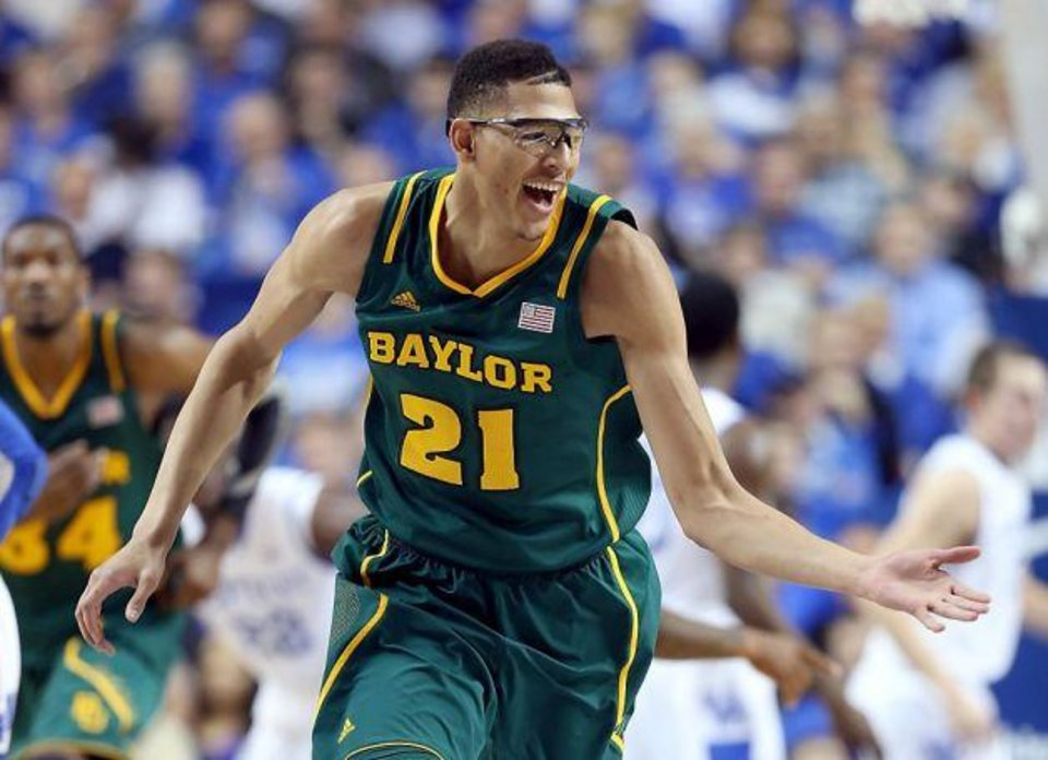 Goggles and all, Isaiah Austin dominated the paint against OSU on Monday. / Getty Images