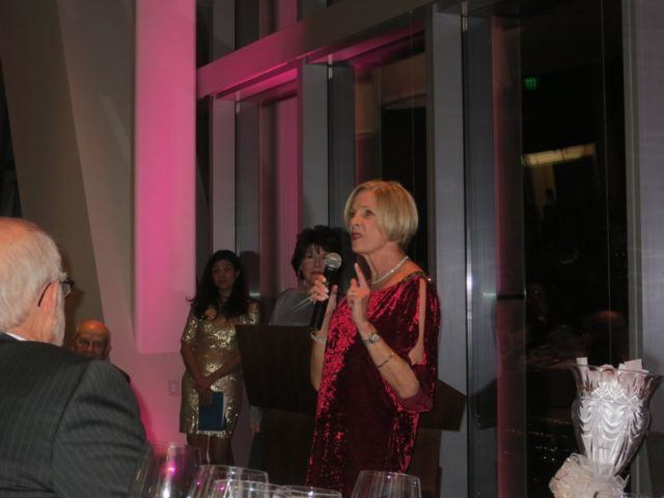 Susan E. (Betsy) Bracken was honored for her contributions to the School of Dance. (Photo by Helen Ford Wallace).