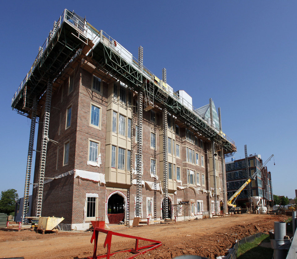 Work progresses last month on Headington Hall on the campus of the University of Oklahoma in Norman.  Photo by Steve Sisney,  The Oklahoman