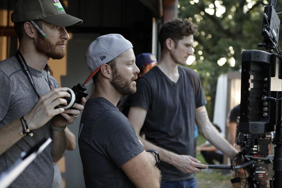 Photo - OKC filmmaker Kyle Roberts, center, is executive director of Kingdom Media Club, a new nonprofit film and television production company that is launching in Oklahoma City. [Photo provided]