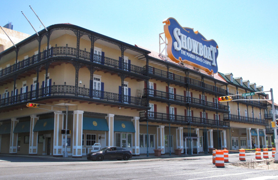 Photo - This June 27, 2014 photo shows the exterior of the Showboat Casino Hotel in Atlantic City, N.J. The Showboat will close on Sunday Aug. 31, 2014. (AP Photo/Wayne Parry)