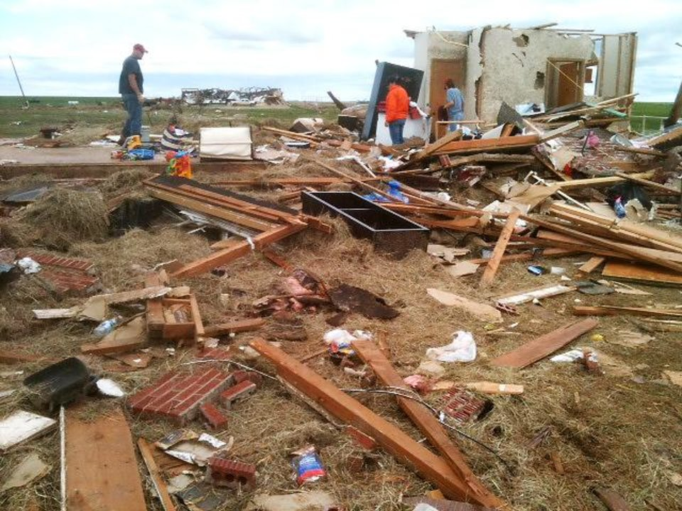 Storm damage from tornado that went through Guthrie Tuesday, May 24, 2011. Photo by David McDaniel, The Oklahoman