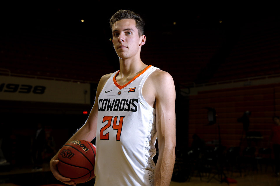 Photo - Former Oklahoma State walk-on Luke Major was charged with second-degree burglary earlier this month after he allegedly entered, vandalized and took items from the on-campus apartment of suspended guard Marcus Watson in October.  [Sarah Phipps/The Oklahoman]