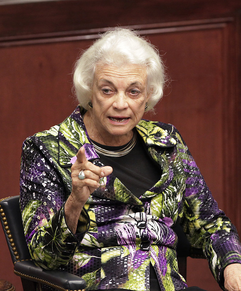 Photo - Retired Supreme Court Justice Sandra Day O'Connor speaking to students, faculty and staff at OCU, Thursday, April 14, 2011.Photo by David McDaniel, The Oklahoman