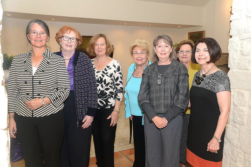 Photo - Astrea Fatica, Lil Ross, Beverly Chansolme, Mary True Neumann, Katherine Milam, Gayle Semtner, Harolyn Enis. Photo by David Faytinger, for The Oklahoman