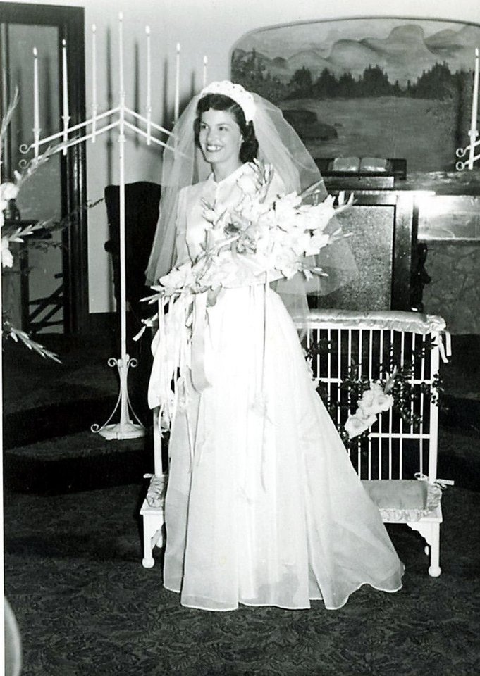 Photo - Jo Laverne Ellis Anderson married Johnny Vin Anderson on Sep. 3, 1949. Jo's mother made her wedding dress.   - Photo provided by Patti Rains