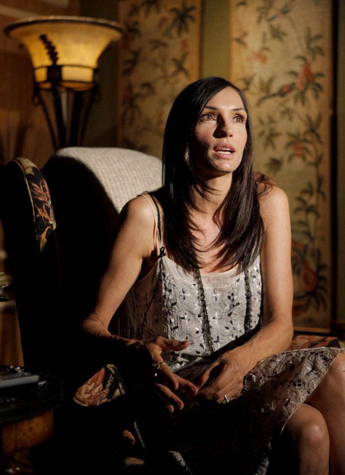 "Actress turned writer-director Famke Janssen talks about filming the movie ""Bringing Up Bobby"" during a wrap party in Nichols Hills in August 2010. Photo by Bryan Terry, The Oklahoman <strong>BRYAN TERRY</strong>"