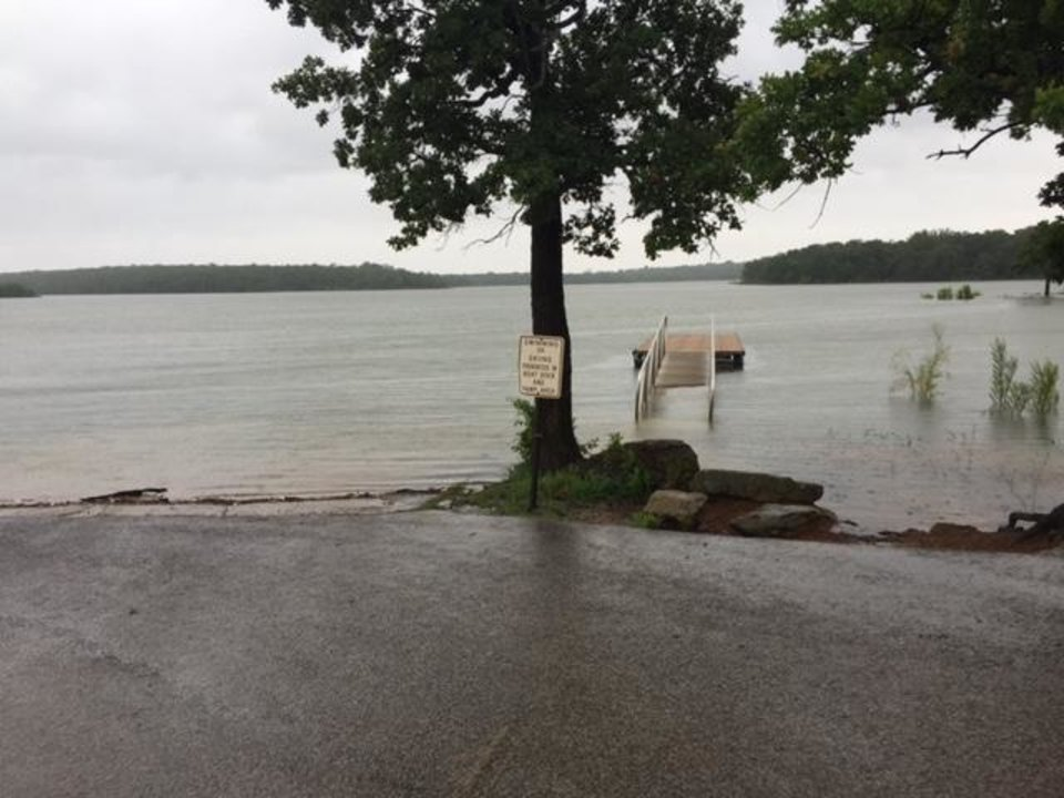Photo - Photo of flooding at Lake Murray (By Ted Enos)