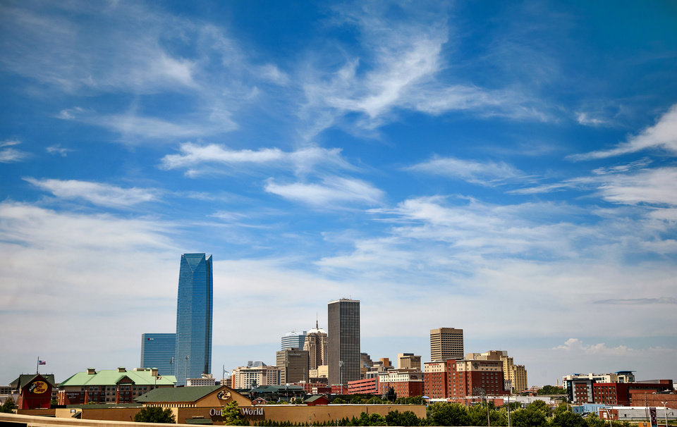 Photo - The Oklahoma City skyline on Tuesday, Aug. 28, 2018. [The Oklahoman archives]