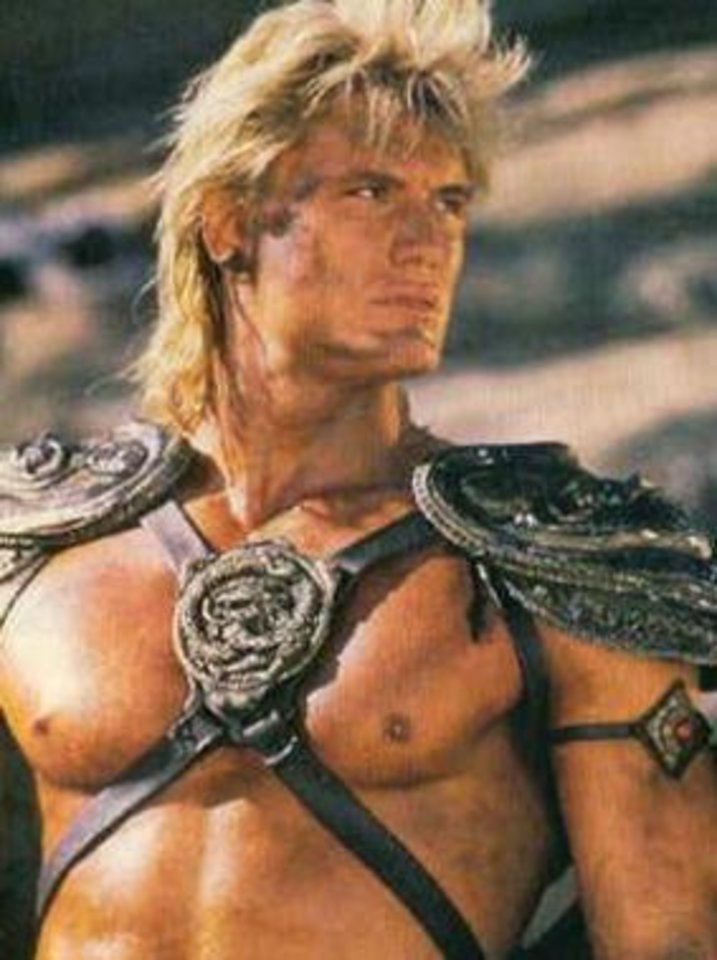 Photo -  Dolph Lundgren as He-Man in the 1987 Masters of the Universe film