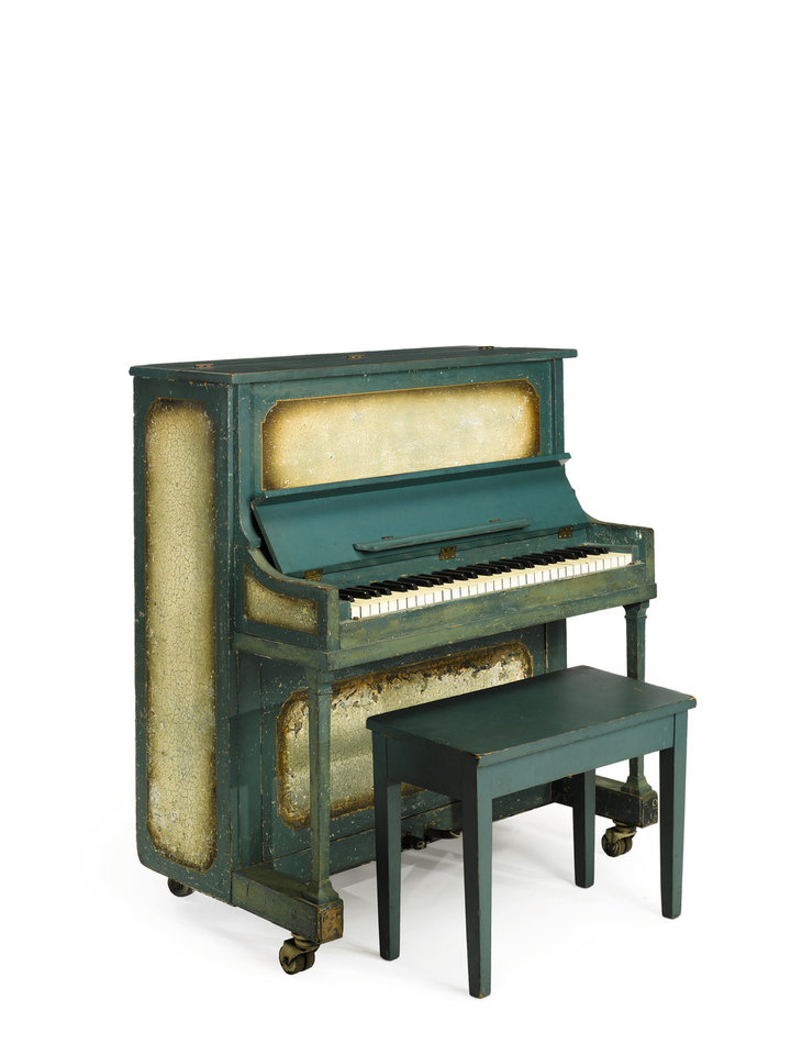 This undated photo provided by Sotheby's shows the piano used in the movie �Casablanca.� The instrument is going up for sale at Sotheby�s in New York on Dec. 14, 2012. The auction house estimates it could fetch up to $1.2 million. (AP Photo/Sotheby's)