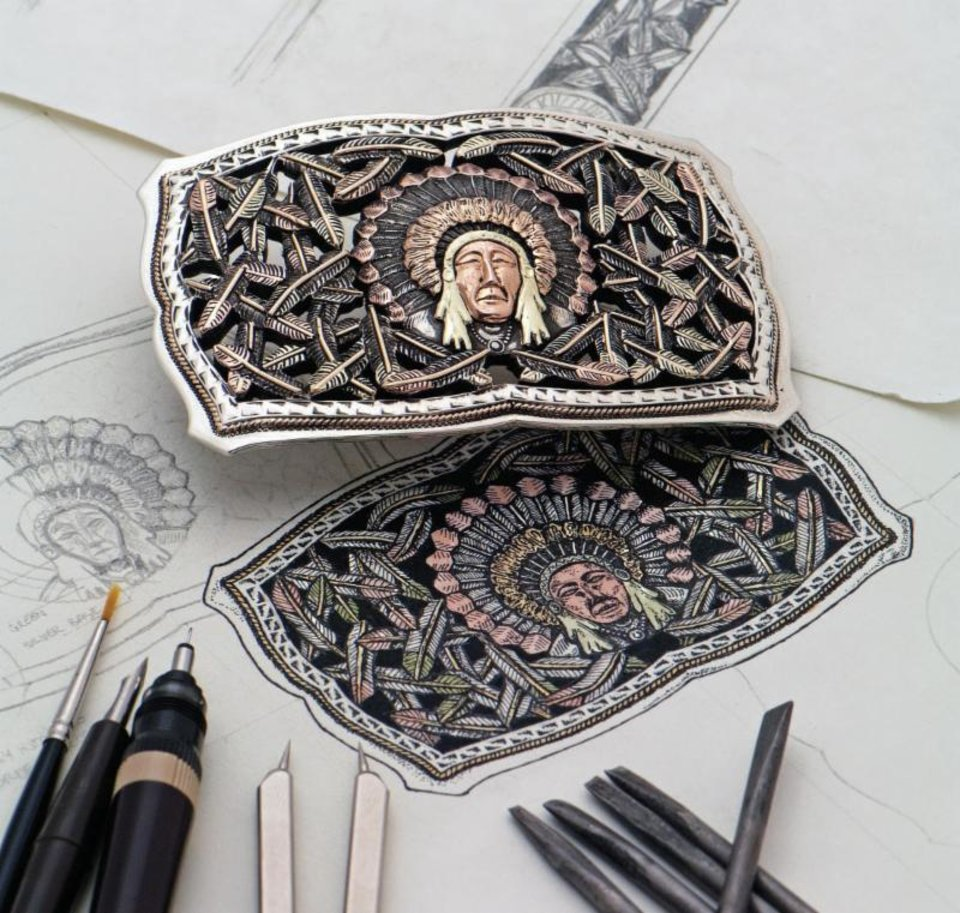 Photo - Bohlin Company's custom buckles and Lucchese boots will be showcased during trunk shows at the National Cowboy and Western Heritage Museum.