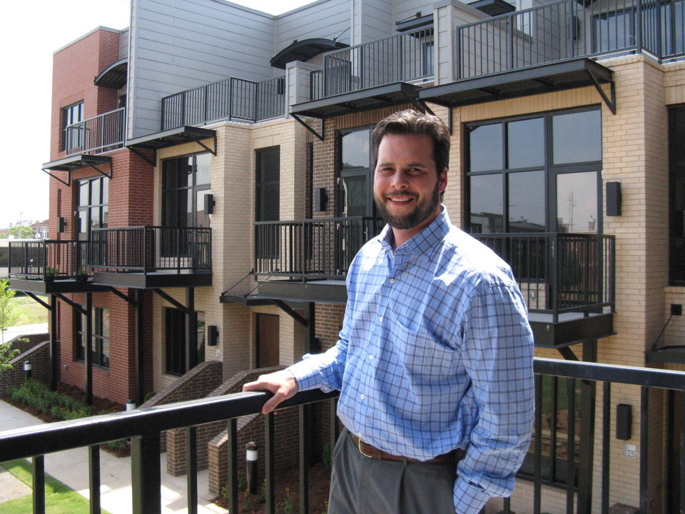 Photo - Grant Humphreys has 11 units left for sale at downtown's Block 42 condominiums - and is hoping some might be sought out by employees and players with the city's new NBA team.   PHOTO BY STEVE LACKMEYER, THE OKLAHOMAN	ORG XMIT: 0807032033564200