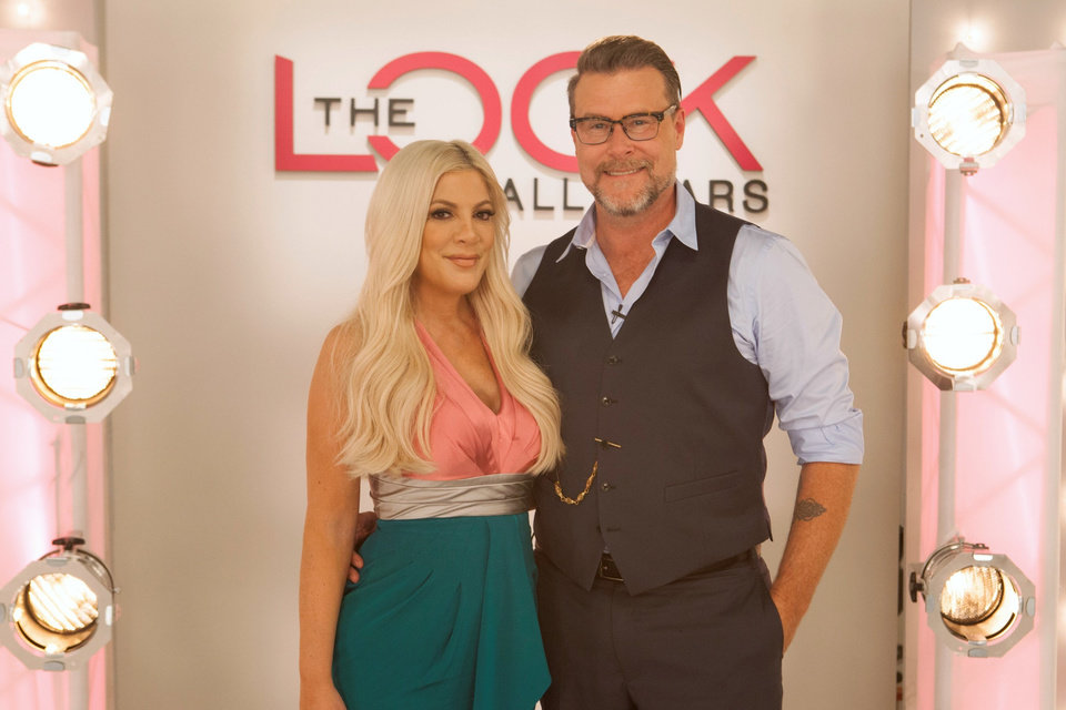 Photo - Host Tori Spelling with guest judge Dean McDermott, during an episode of
