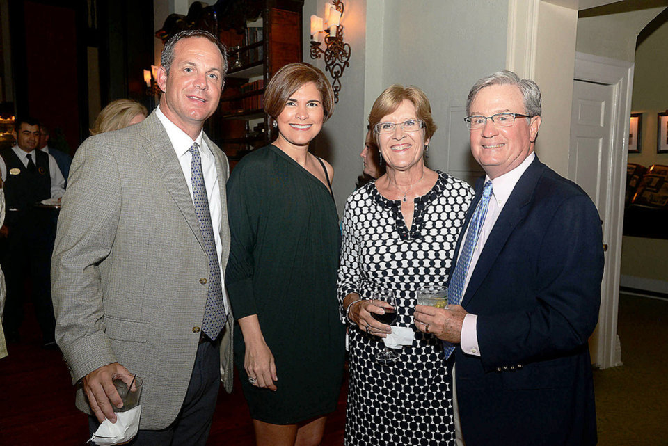Photo - George and Anna Browning, Suzanne and Scott Spradling. Photo by David Faytinger, for the Oklahoman