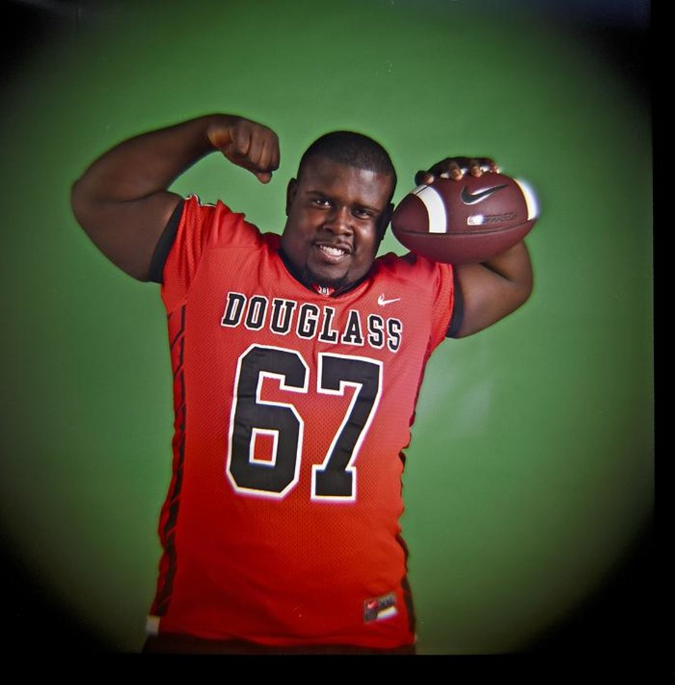 HIGH SCHOOL FOOTBALL / ALL CITY MUG SHOTS: Stanley Johnson of Douglass High School on Monday, Dec. 14, 2009, in Oklahoma City, Okla.   Photo by Chris Landsberger, The Oklahoman ORG XMIT: KOD