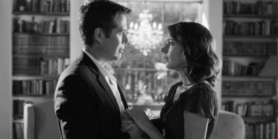"Alexis Denisof and Amy Acker in ""Much Ado About Nothing.""  Lionsgate. <strong></strong>"