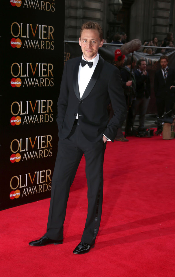Photo - Tom Hiddleston at the Olivier Awards 2013 at the Royal opera House in London on Sunday, April 28th, 2013. (Photo by Joel Ryan/Invision/AP)