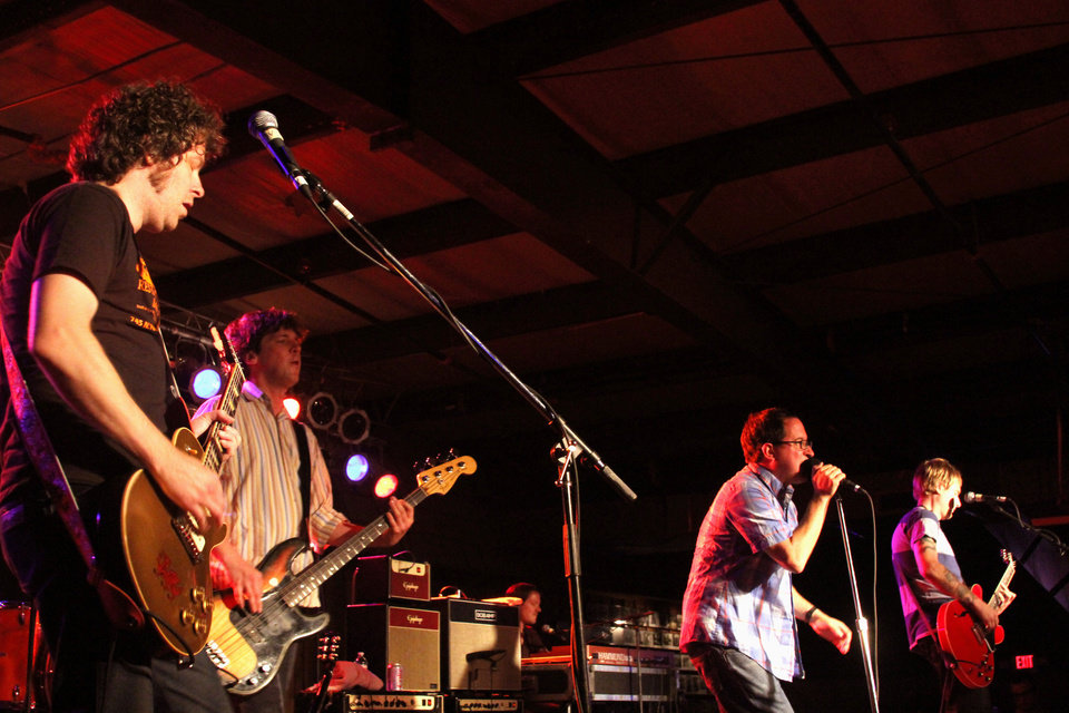 Photo - The Hold steady played to roughly 200 people Friday evening at the Diamond Ballroom.