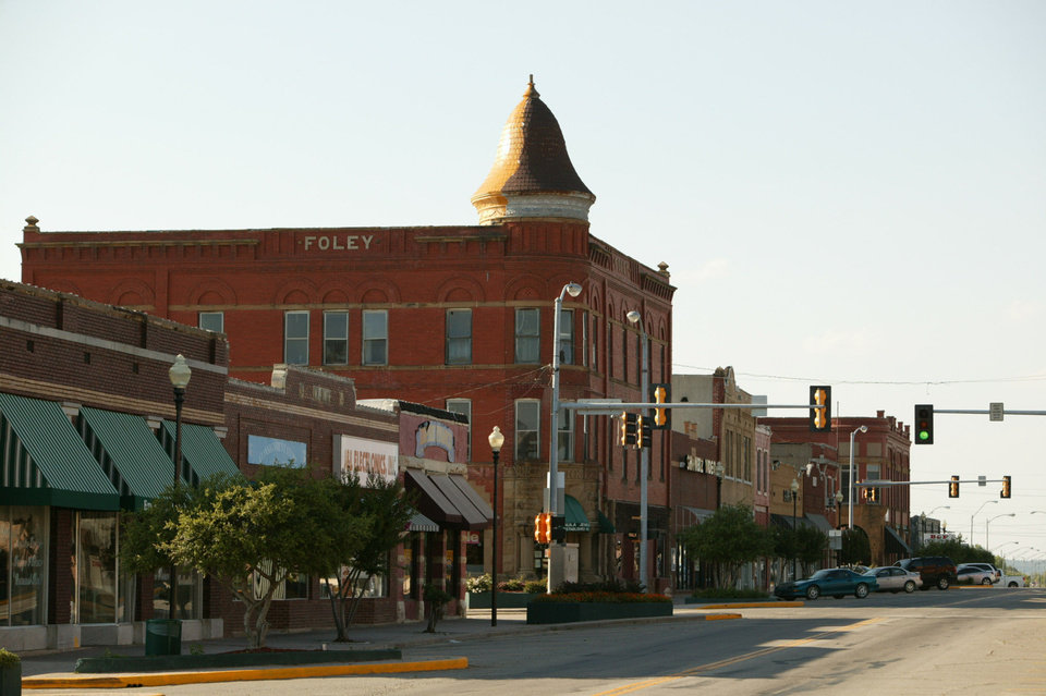 Photo - Storefronts line Main Street in Eufaula. PHOTO PROVIDED BY Michael Ives