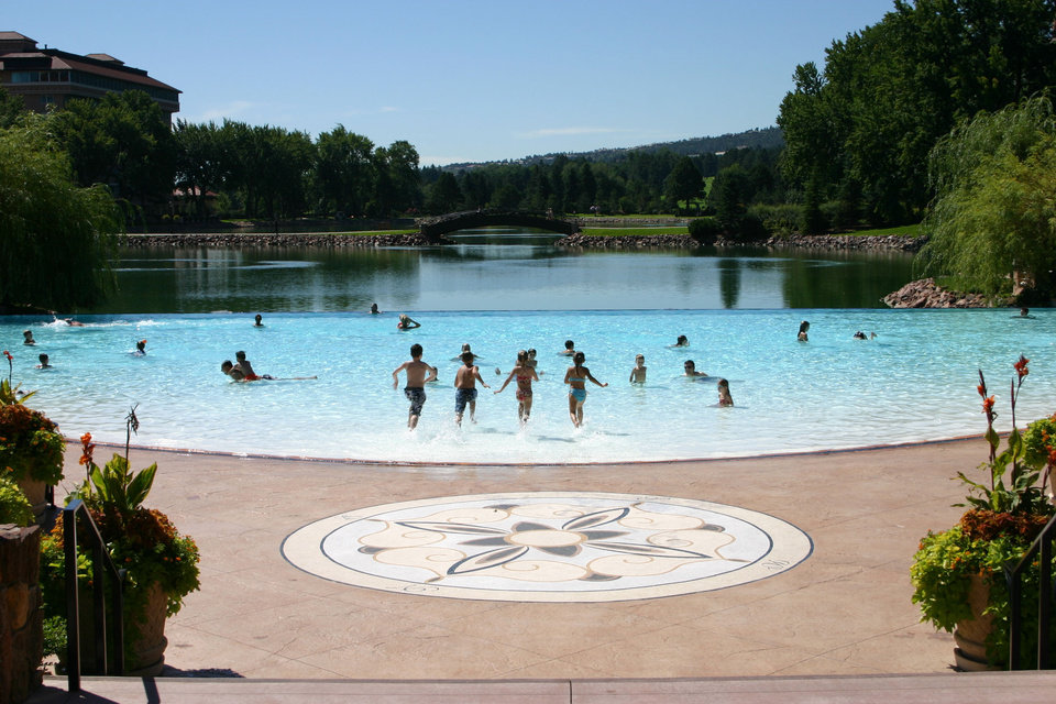 Photo -  Right:  Children have an infinity pool to frolick in at The Broadmoor Hotel.  Photos provideD
