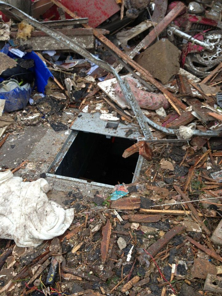 This view shows the underground shelter where Melissa Dashiell and son Chase rode out the May 20 tornado. <strong> - PROVIDED</strong>