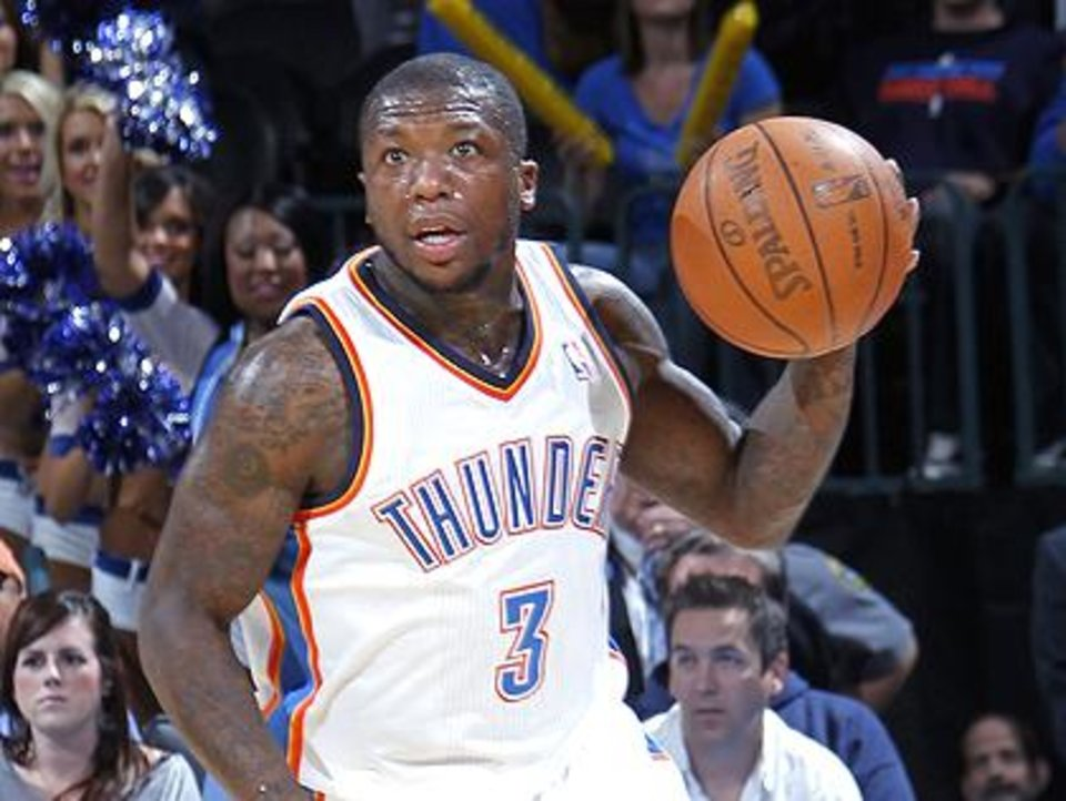 Photo -  Thunder reserve point guard Nate Robinson