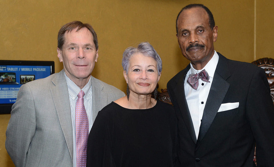 Karl Springer, Gloria Griffin, Thomas Hartwell. Photo by David Faytinger, for The Oklahoman