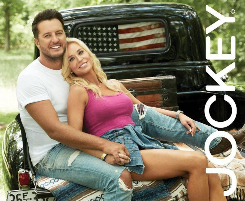 Photo - Luke Bryan and his wife Caroline are the new brand ambassadors for Jockey.