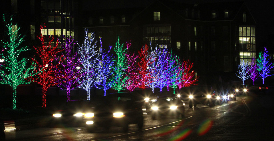 Christmas lights around the Chesapeake campus area, Monday, December 12 , 2011. Photo by David McDaniel, The Oklahoman
