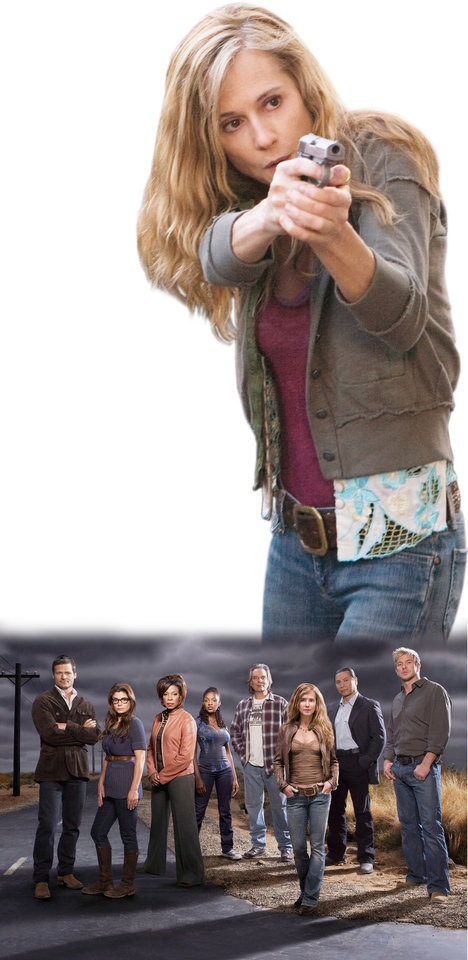 """Photo - TELEVISION SERIES: """"Saving Grace"""" cast members are Bailey Chase, Laura San Giacomo, Lorraine Toussaint, Yaani King, Leon Rippy, Holly Hunter, Gregory Cruz and Kenny Johnson. TNT PHOTOs  ORG XMIT: 0906151612405575"""