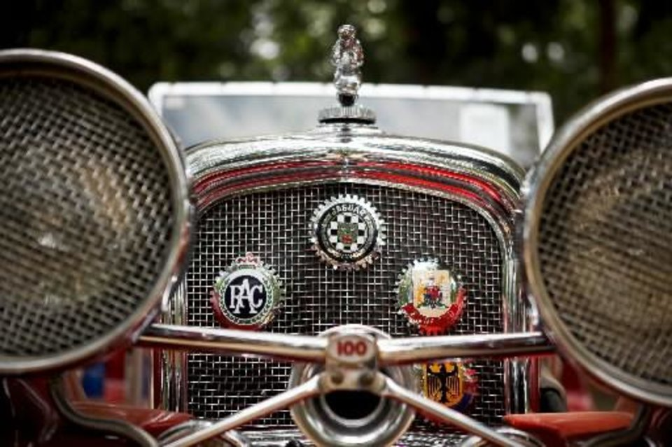 Photo -  A 1937 Jaguar owned by David Davis is displayed at the 2011 Bethany Freedom Festival at Eldon Lyon Park in Bethany. Photo by Zach Gray, The Oklahoman Archive