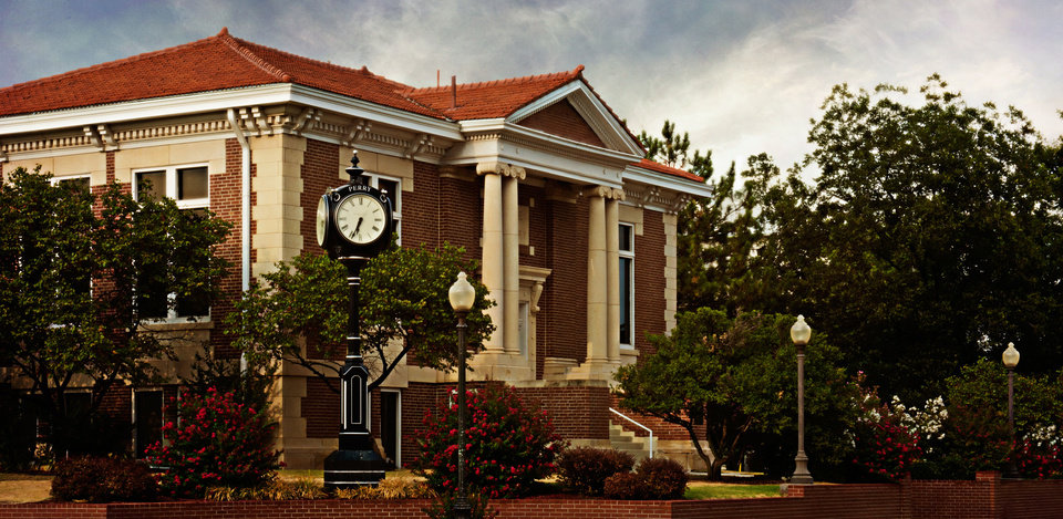 Photo - Carnegie Library, 302 N Seventh St. in Perry is the focal point of the Perry Courthouse Square Historic District, where all sessions will be held for Our Sense of Place: Oklahoma's 25th Annual Statewide Preservation Conference June 5-7.   - PROVIDED BY STATE HISTORIC PRESE