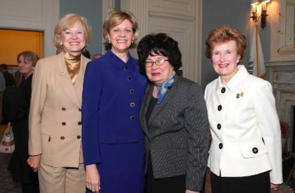LaDonna Meinders, Cynde Collins-Clark, Dorothy Hammert, Barbara Thompson. PHOTO BY DAVID FAYTINGER, FOR THE OKLAHOMAN