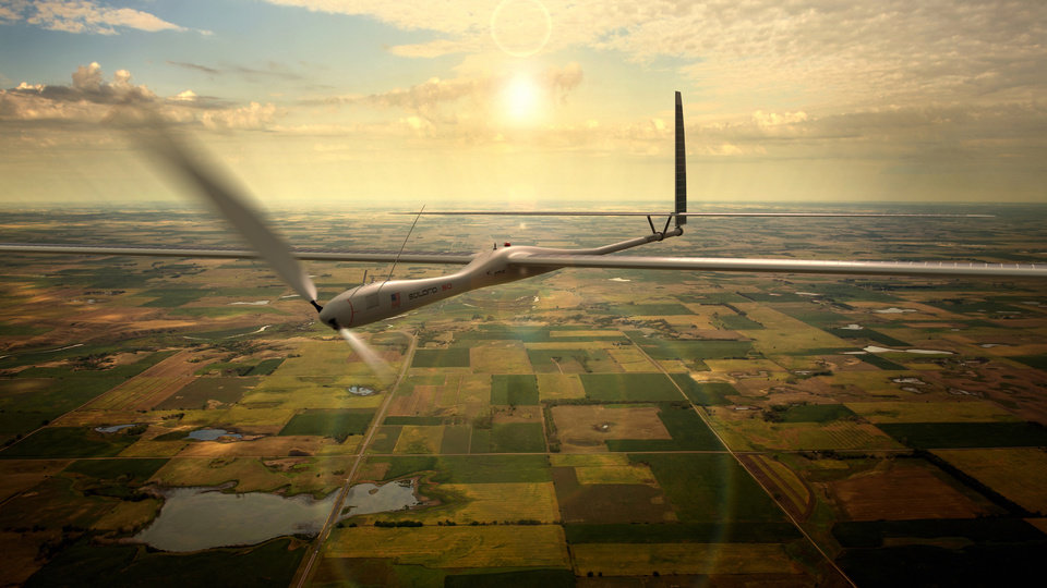 Photo -       This undated image released by Titan Aerospace shows the company's Solara 50 aircraft. Facebook is in talks to buy Titan Aerospace, a maker of solar-powered drones, to step up its efforts to provide Internet access to remote parts of the world, according to reports released Tuesday. AP PHOTO    -  AP