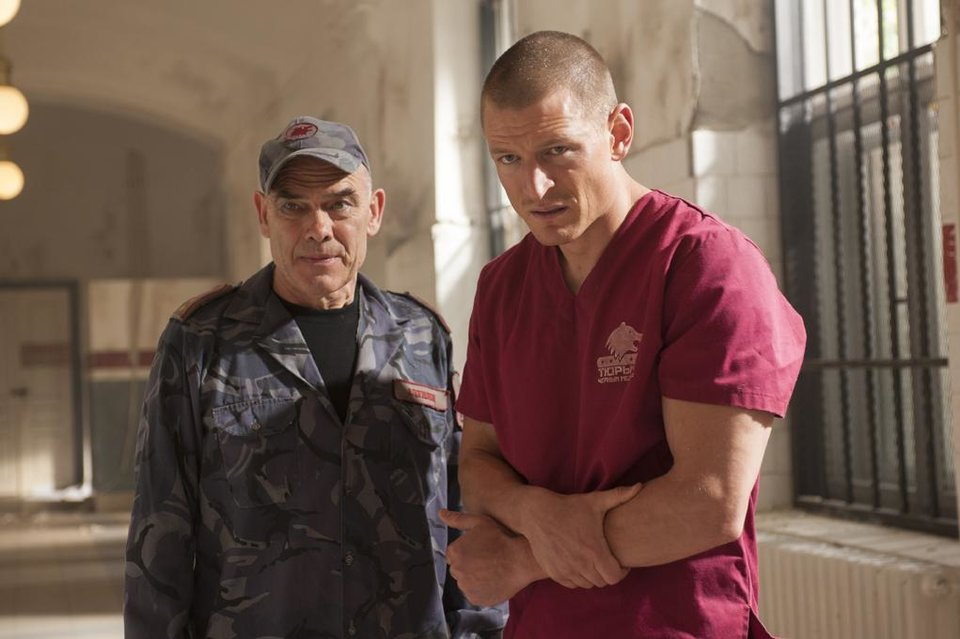 """Photo -  Peter Guiness (l.) and Philip Winchester (r.) in Cinemax's hit action series """"Strike Back."""" - Photo by Liam Daniel/Cinemax"""