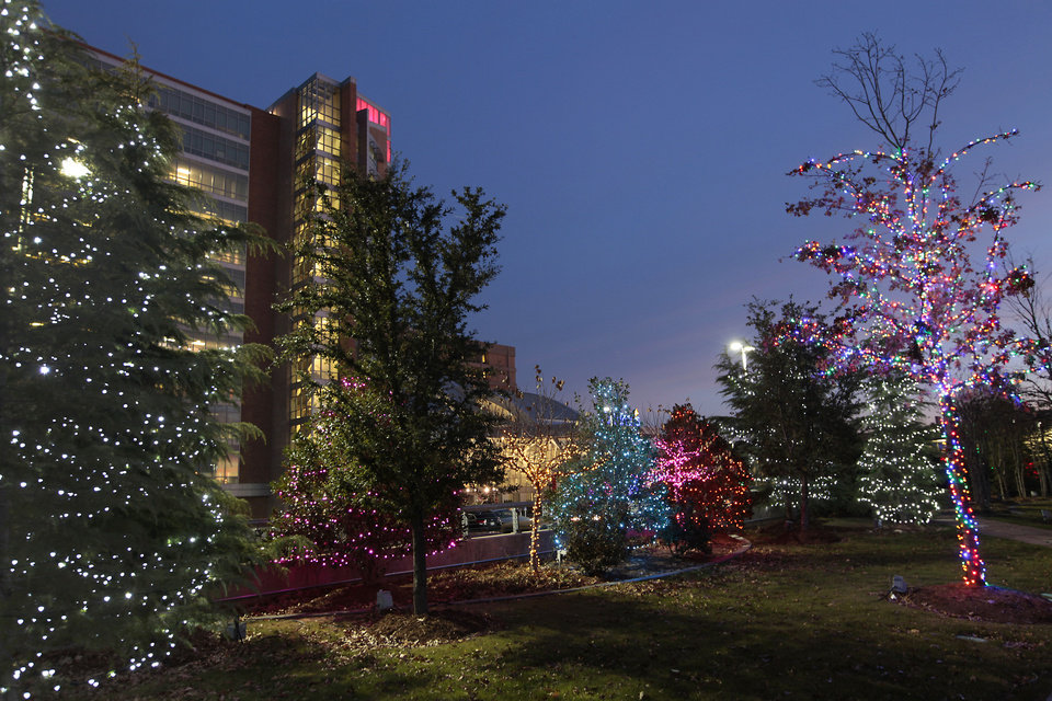 Photo - Christmas lights at Children Hospital, Monday, December, 2, 2013. Photo by David McDaniel, The Oklahoman  David McDaniel - The Oklahoman