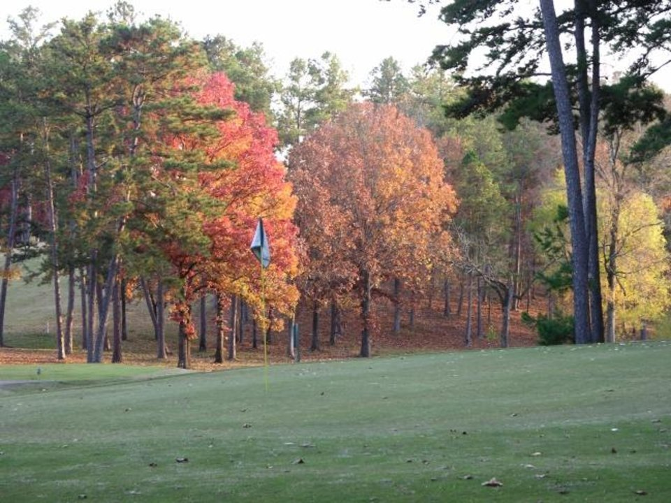 Photo -  Fall is a good time to check out the Cedar Creek Golf Course. [Keli Clark/Oklahoma Tourism]