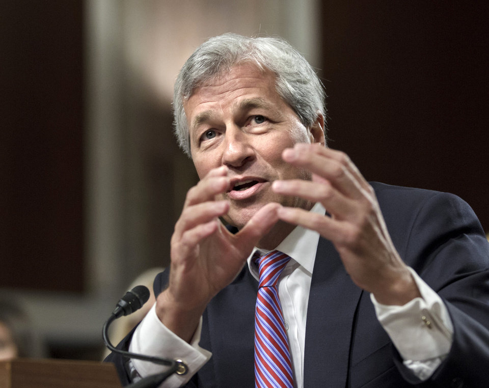 JPMorgan Chase CEO Jamie Dimon, head of the largest bank in the United States, testifies on Capitol Hill in Washington on  June 13, 2012, before the Senate Banking Committee. AP Photo/J. Scott Applewhite <strong>J. Scott Applewhite</strong>