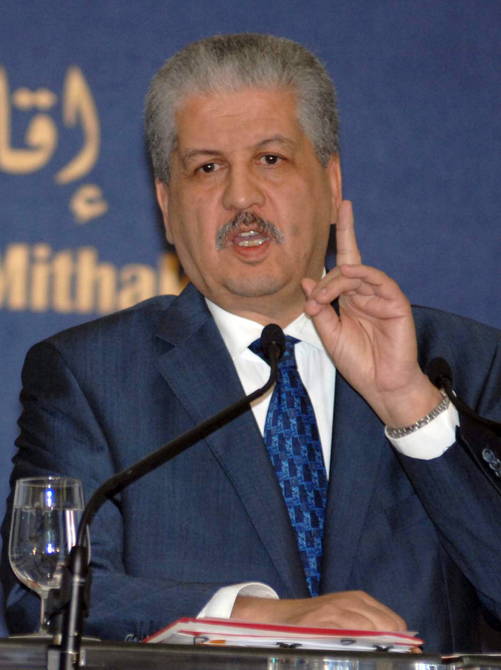 Photo - Algerian Prime Minister Abdelmalek Sellal answers questions during a press conference held in Algiers, Monday, Jan. 21, 2013. The Islamist militants who attacked a natural gas plant in the Sahara wore Algerian army uniforms, memorized the layout of the vast complex and included two Canadians and a team of explosives experts ready to blow the place sky-high, Algeria's prime minister said Monday. (AP Photo/Sidali  Djarboub)