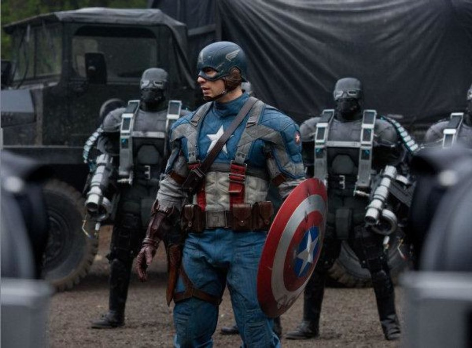 "Chris Evans plays Steve Rogers/Captain America in ""Captain America: The First Avenger."" Paramount Pictures' photo <strong>Photo Credit: Jay Maidment</strong>"