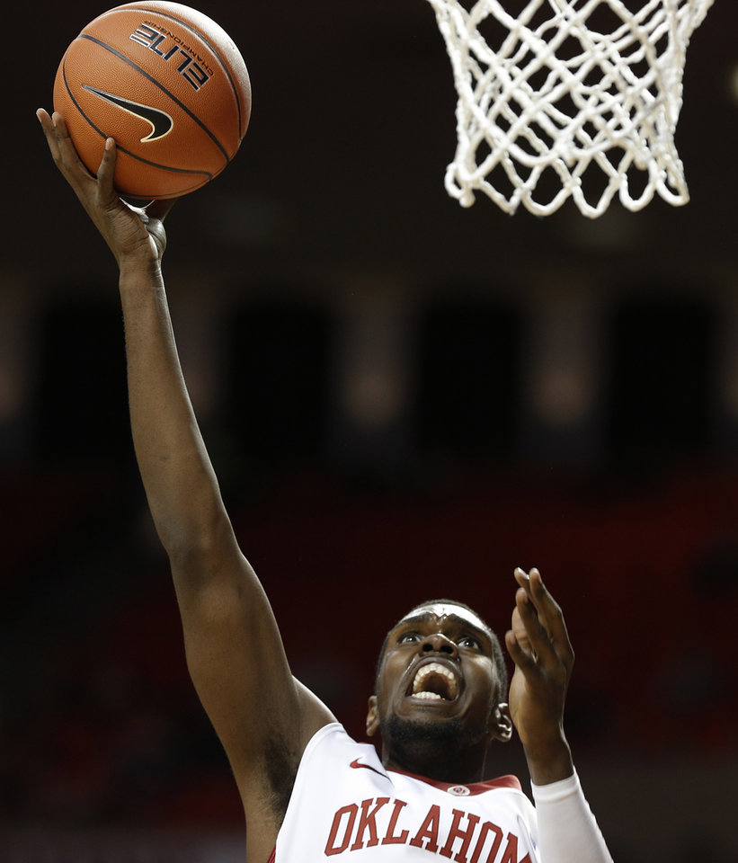 Photo - Oklahoma's Andrew Fitzgerald (4) takes a shot during a men's college basketball game between the University of Oklahoma and the University of Louisiana-Monroe at the Loyd Noble Center in Norman, Okla., Sunday, Nov. 11, 2012.  Photo by Garett Fisbeck, The Oklahoman