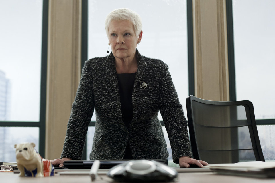"Judi Dench stars in Metro-Goldwyn-Mayer Pictures/Columbia Pictures/EON Productions' action adventure ""Skyfall."" (Francois Duhamel/Courtesy Columbia Pictures/MCT)"