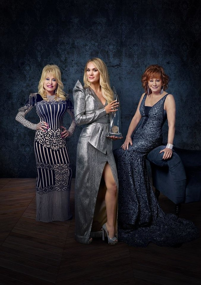 "Photo - The 53rd Annual CMA Awards"" hosted by Carrie Underwood with special guest hosts Reba McEntire and Dolly Parton, airs live at 7 p.m. Wednesday on ABC. [Photo provided]"
