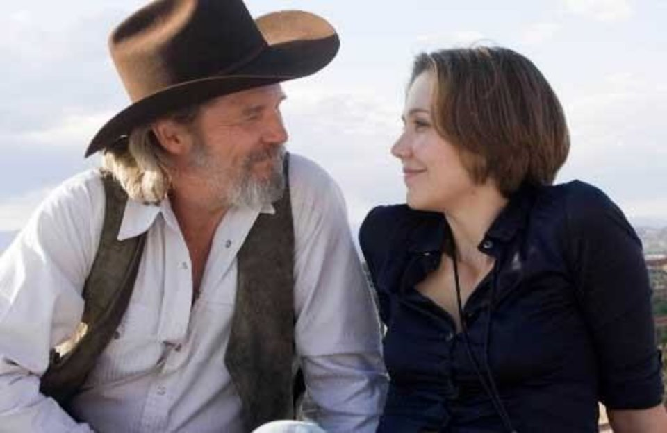 "Jeff  Bridges, left, and Maggie Gyllenhaal are shown in a scene from, ""Crazy  Heart."" AP Photo"